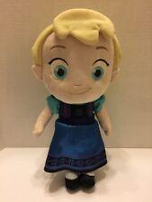 "Disney Store Soft Plush Doll Elsa Frozen Embroidered Face Original 12"""