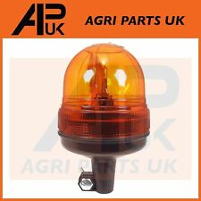 12V Rotating Flashing Amber Beacon DIN Pole spigot Mount Tractor Warning Light