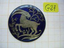Petit médaillon émail capricorne émaillé bijoux montre enamel zodiaque p27