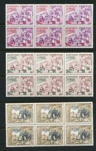 LAOS 190-91, C58 MINT NH BLOCK OF 6 ELEPHANTS