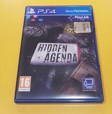 Hidden Agenda GIOCO PS4 VERSIONE ITALIANA