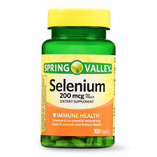 Spring Valley Selenium Tablets Immune Health, 200 mcg, 100 Count