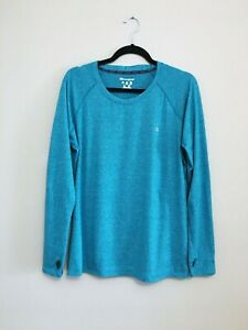 Champion Shirt Women's Size XXL Blue Long Sleeve Crew Neck Athletic Shirt