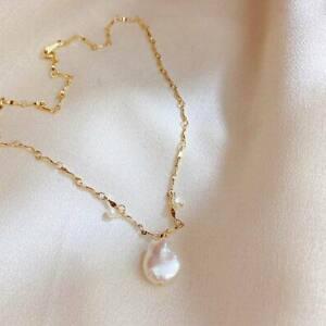 Luxury Baroque Pearl Pendant Necklace