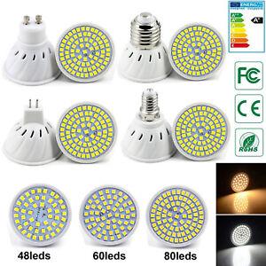 GU10 MR16 E27 E14 LED Spot luces 5W 7W 9W 2835 SMD Lámparas Bombillas 220V COB