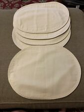 """Set Of 5 Oval Off White Beige Placemats 15.5""""x11.5"""" (MA)"""