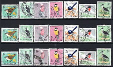 1964 Pre-Decimal Birds Australia Galah Magpie Wren Robin Thornbill Ibis Used x 3