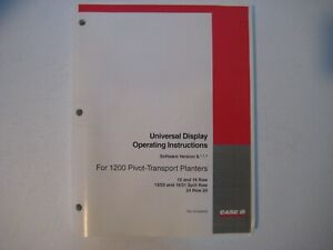 New Case IH 1200 Planters Universal Display Operating Instructions 87058409