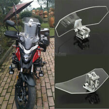 Adjustable Clip On Windshield Extension Spoiler For Honda Suzuki Kawasaki Yamaha