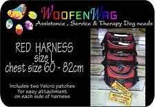 L - RED  - Service Dog - Assistance Dog - Harness Vest