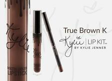 NEW BOX LIP KIT BY KYLIE JENNER MATTE LIQUID LIPSTICK & LIP LINER TRUE BROWN K