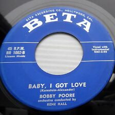 BOBBY POORE 45 baby I got love In your hands 1959 TEEN Bopper on BETA e7464