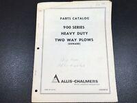 Original Allis Chalmers 900 Series Heavy Duty Two Way Plows Oxnard Parts Catalog