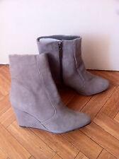 Boots bottines talon compensé CARVELA grises en nubuck taille 41 neuves!