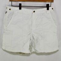 Columbia PFG Omni Shade White Shorts Women's Small Pockets Fishing Outdoor Nice