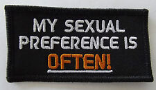 My sexual preference is often embroidered cloth patch.      H030402