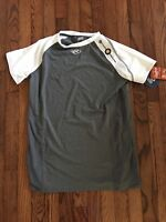 Rawlings Adult Heat Fusion Compression SRG Power Balance Shirt WHT/GRY - Size M