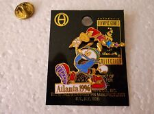 Vintage 1996 Atlanta Olympic Games Izzy Carrying the Olympic Torch cut-out pin