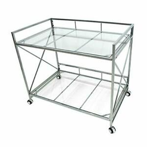 Christopher Knight Home Danae Industrial Modern Iron and Glass Bar Cart Silver