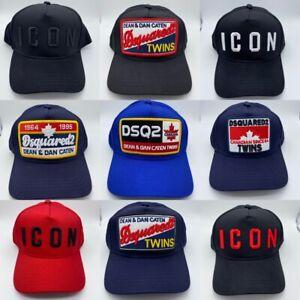 NEW DSQUARED2 CAP ICON BLACK CAPS BRAND SNAPBACKS BASEBALL CAP HAT UK