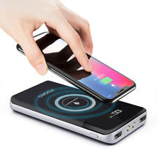 FDGAO 20000mAh Qi Wireless Fast Charger Power Bank 2USB LED LCD Portable Battery