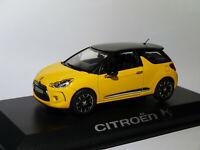 Citroën DS3 jaune et noire au 1/43 de NOREV AMC019024 / 155284