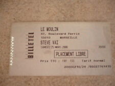 Concert Ticket-Steve Vai-2000-Marseille-Le Moulin