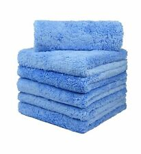 "6 Pcs Microfiber Towel Edgeless Scratch Free Cleaning Clothes 16""x16"" 450 GSM"