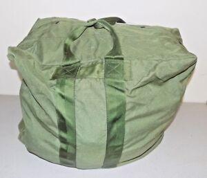 USAF Military A-3 Aircraft Pilot Flyers Kit Bag , Nylon, Olive Green
