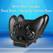 US!Xbox Dual Controller USB Charger Docking Station Charging Stand W/2 Batteries