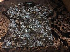 Bugatchi Uomo Men's Polo Shirt large NWT $129 COOL!