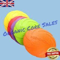Frisbee Dog Toy Non-toxic Rubber Bite & Chew Resistance Pet Training Flying Disc