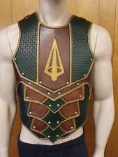 Sentinel 2 leather armor chest & back with graphic LARP COSPLAY