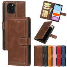 Vintage Wallet Case Card Stand Flip Cover for iPhone 11 Pro Max XR XS 6 7 8 Plus