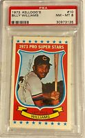 BILLY WILLIAMS 1973 Kellogg's Pro Super Stars #10 MLB Hall of Fame Cubs PSA 8