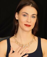 Kate Spade PRINCESS HOUSE LACE CRYSTAL CLEAR DROP EARRINGS & NECKLACE SET DANGLE