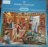 Gibsons 1000 Piece Jigsaw Puzzle Hidden Treasures - Two Pieces Missing