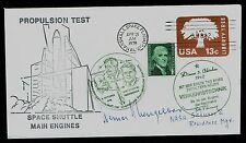 Werner K. Gengelbach (d. 2001) signed autograph auto Cover Von Braun Rocket Team