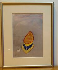Sally Bailey Listed  American Artist Boat Watercolor Painting Dory Sunrise MASS