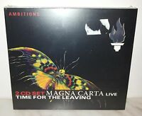 2 CD MAGNA CARTA - TIME FOR THE LEAVING - LIVE - NUOVO - NEW