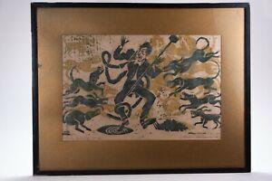 VINTAGE 1968 PRESTON WILLIAMS SEVEN DEADLY SINS ARTIST PROOF WOOD CUT ART