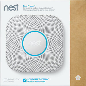 Nest Protect Smoke and Carbon Monoxide Alarm 2nd Gen (S3000BWES) - White!