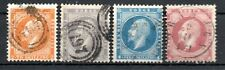 NORWAY , 1856 / 57 , scarce CLASSIC SET of FOUR , USED , LOOK !