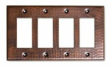 Monarch Abode 17016 Monarch Pure Copper Hammered Quad Rocker Wall Switch Plate