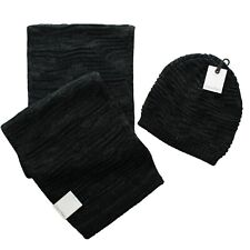 Calvin Klein Men's Scarf Hat Beanie Cap Winter Knit 2 Piece Gift Set, $97