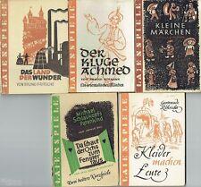 Laienspiele 5 Taschenbücher Theaterstücke Manuskript Märchen DDR 1948-50