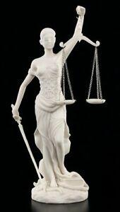 Justitia Figur weiß - Geschenk Rechtsanwalt Anwalt Recht Student Statue