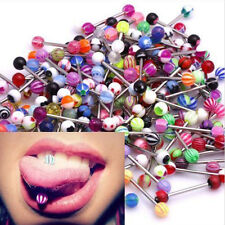Newest 10PCS Tongue Tounge Nipple Ear Rings BARS BARBELL BODY PIERCING JEWELRY