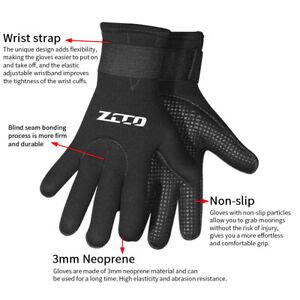 Elastic Wrist Diving Gloves Snorkeling 3mm Neoprene Non Slip Swimming Kayaking
