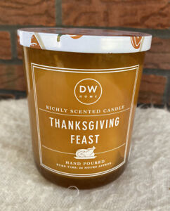 Thanksgiving Feast DW Home Candle Hand Poured Richly Scented 56 Hours 15 Oz New